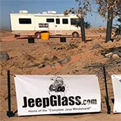 Jeepglass in the desert